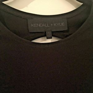 Kendall & Kylie Black backless bodycon mini, S